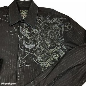 ROAR Face Off Shirt Embroidered Button Down